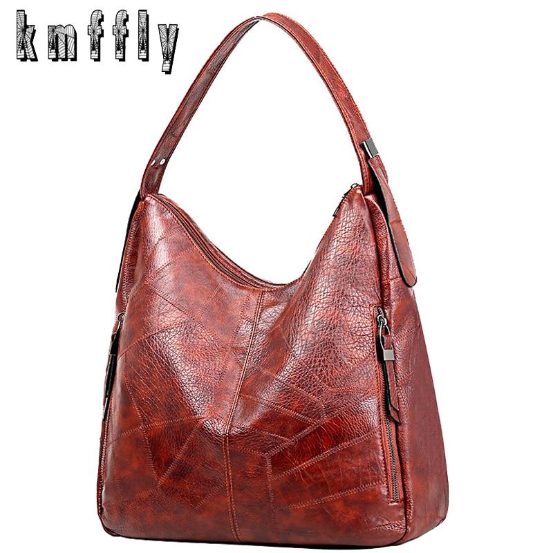Luxury Handbag Women Bags Designer High Capacity Shoulder Bags For Women 2019 Soft  Pu Leather Handbags Travel Tote Bag Brown