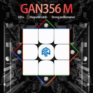 Магический Магнитный куб Gan356 M 3x3x3, профессиональный магнитный кубик GAN 356 M, скоростной кубик-головоломка 3x3, кубик Гань