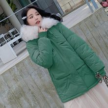 2019 new winter Big fur collar parka women down cotton jacket and thicker for Hoodies Loose Parka