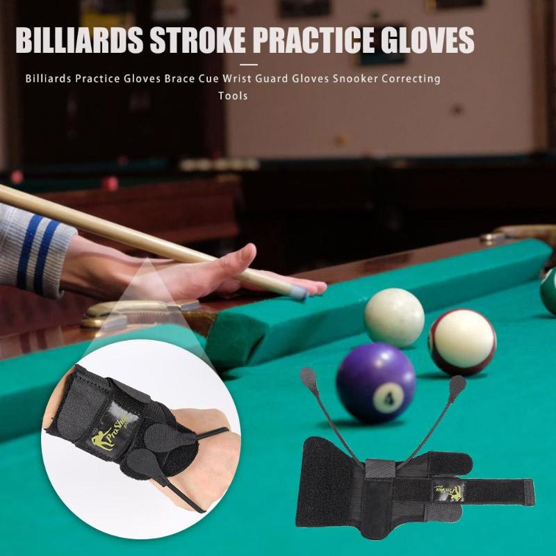 Billiards Pool Correcting Practice Gloves Brace Stick Wrist Guard Gloves