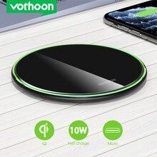 Vothoon 15W Qi Drahtlose Ladegerät Für iPhone 12 Pro 8 XR XS Max 2A Schnelle Drahtlose Aufladen Pad Für samsung S20 S10 S9 Xiaomi Huawei