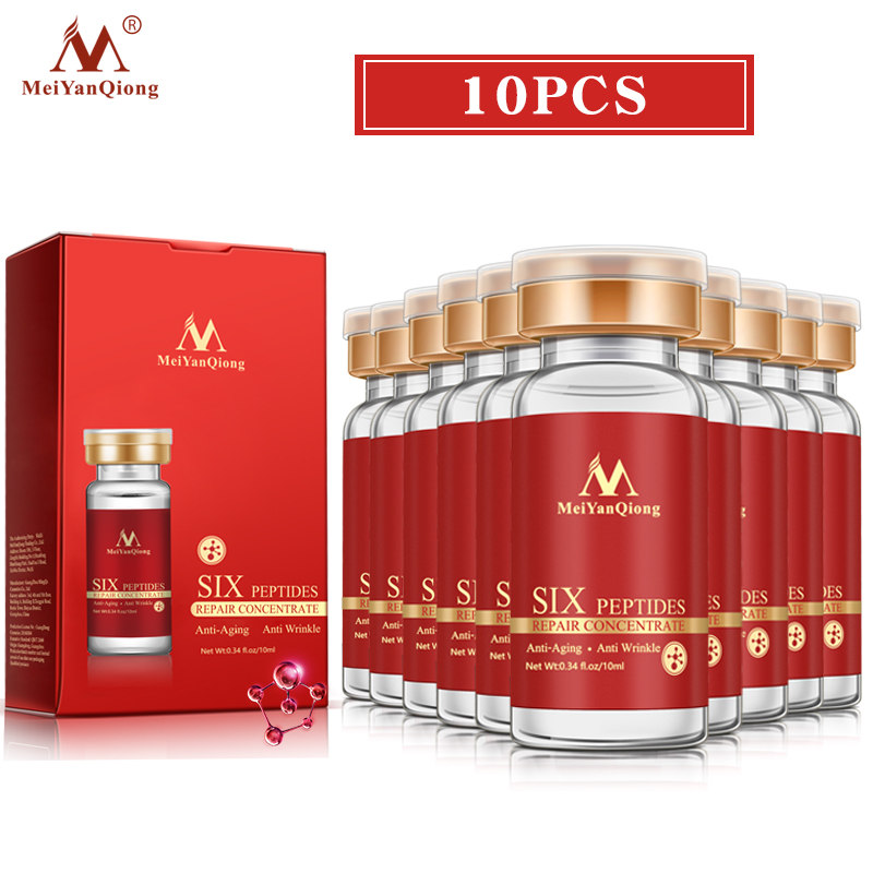 10pcs Six Peptide Repair Essence Improves Skin Dry Lines Fine Lines Shrinks Pores Gives Skin Nutrition Moisture Moisturizes Skin