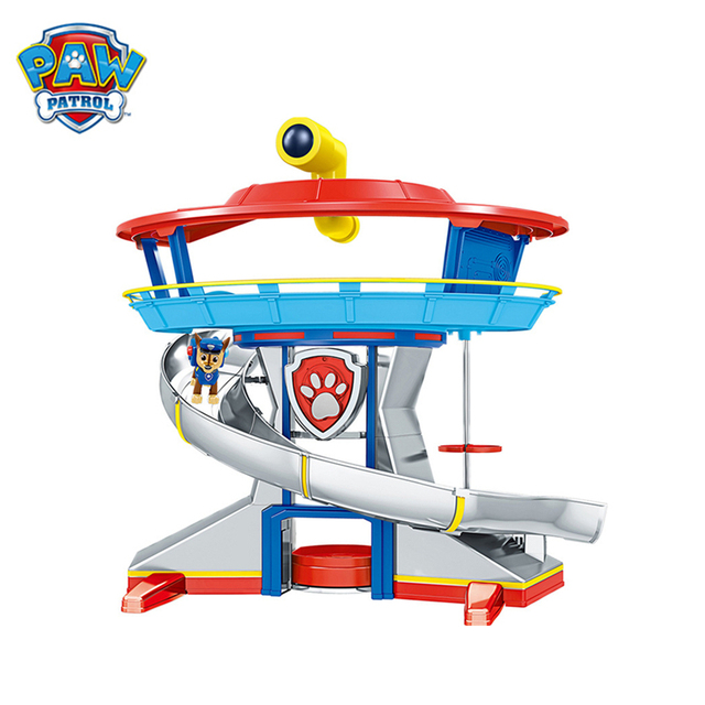 Paw Patrol  Lookout Tower Dog Rescue Base Toys Set Puppy Patrol Ryder Chase Anime Action Figures Model Kids Birthday Best Gift