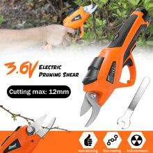 3,6 В Электрический Резак для веток, секатор, перезаряжаемые садовые ножницы, беспроводные секаторы для плодовых деревьев, резак для веток, электроинструменты