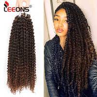 Leeons Hohe Qualität 80 gr/paket Leidenschaft Twist Häkeln Flechten Haar Synthetische Faser Wasser Welle Lange Ombre Haar Extensions Für Frauen