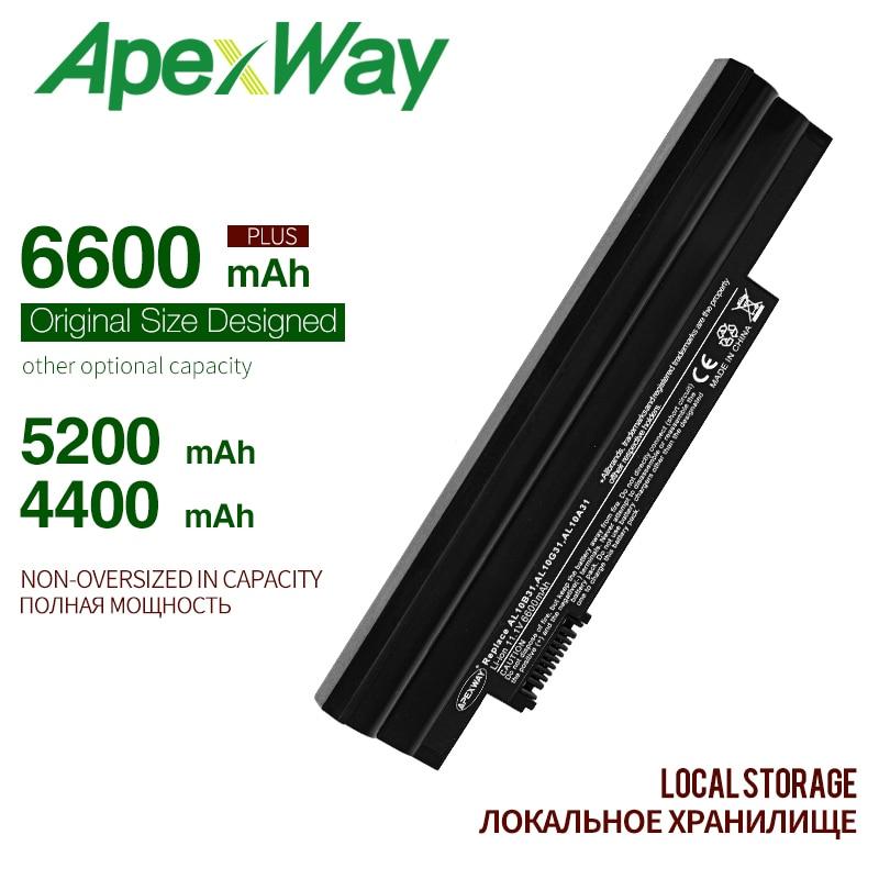 ApexWay 11.1V Battery For Acer Aspire AL10B31 AL10A31 AL10G31 One 522 AOD255 722 D255 AOD260 D255E D257 D257E D260 D270 E100