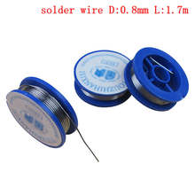 10Pc 0 8mm Solder Wire Tin Lead Rosin Core Approx 38x11mm Flux Content 2 0 Welding Repair Tool for Electrical Soldering cheap Electronic welding repair 0 7mm G188627 32854106366 32701292200 183℃ 1 7m high speed welding 38x11mm wire diameter about 0 8mm length approx 1 7m Flux content