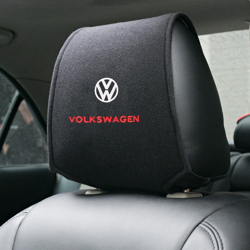 1PCS Hot car headrest cover fit for Volkswagen <font><b>GOLF</b></font> 5 Tiguan Polo <font><b>Golf</b></font> 6 <font><b>Golf</b></font> <font><b>7</b></font> Jetta Accessories Car Styling image