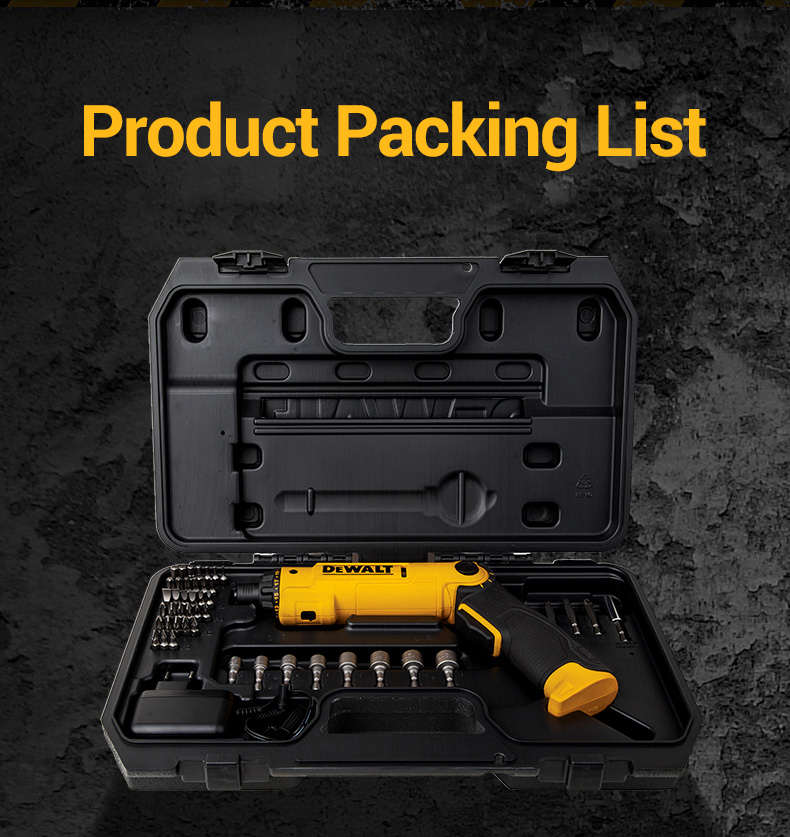 Product packing list