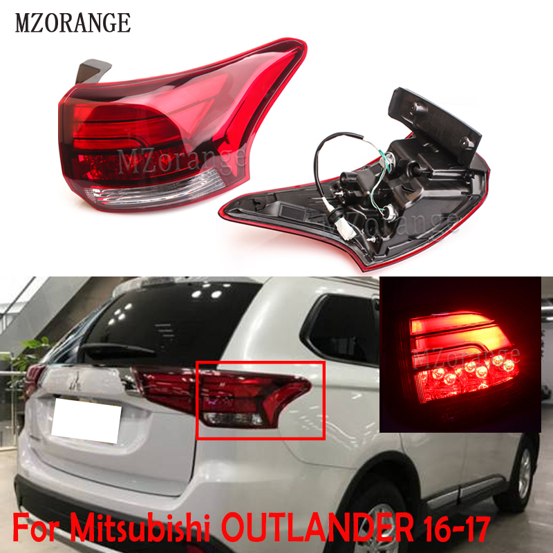 MZORANGE pour Mitsubishi 2016 2017 OUTLANDER lumière arrière feu arrière assemblage feu arrière outlander feu arrière feu arrière Stop frein