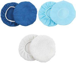 Image 5 - Parlatıcı ped Bonnet 10 adet (9 to10 inç) mumluk Bonnet seti araba parlatma pedi kiti Mix paketi olmayan dokuma kumaş yün mikrofiber