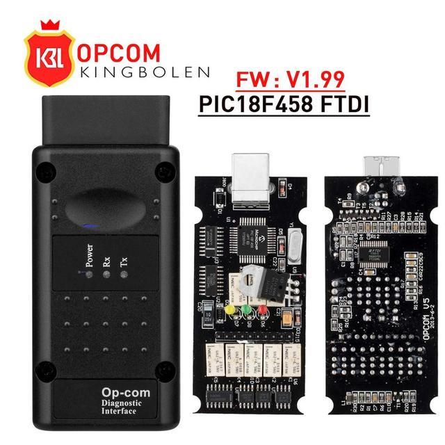 Opcom V1.99 עם PIC18F458 FTDI op com אבחון Op com V1.78 V1.65 OBD2 אוטומטי סורק כלי עבור אופל יכול אוטובוס V1.7 פלאש עדכון