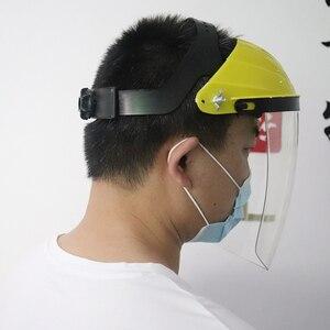 Image 2 - Anti choque protetor máscara facial completa capacete de soldagem anti uv segurança clara anti respingo escudo viseira suprimentos de proteção de local de trabalho
