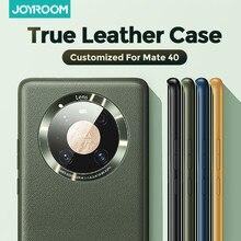 Joyroom – Coque arrière antichoc en cuir véritable, étui de luxe pour Huawei Mate 40 Pro Plus