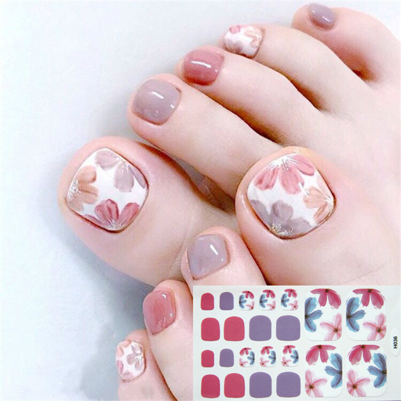 ALI shop ...  ... 32911751801 ... 1 ... 22tips Korea/Japanese Designed Toenail Sticker Full Cover Waterproof Nail Sticker Wraps Toe Nail  DIY Nail Art unas Nail Sticker ...