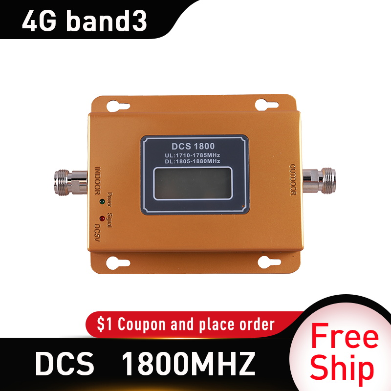 65dB Gain 4G LTE DCS 1800mhz Moblie Phone Booster GSM 1800 Signal Repeater 4G Network Cellular Cell Phone Amplifier