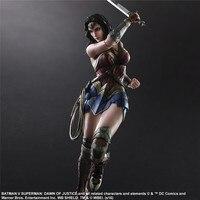 Movie Avengers Play Art Kai Action Figures Wonder Woman Captain American Super Man Iron Man Batman Figure Toys Doll Model