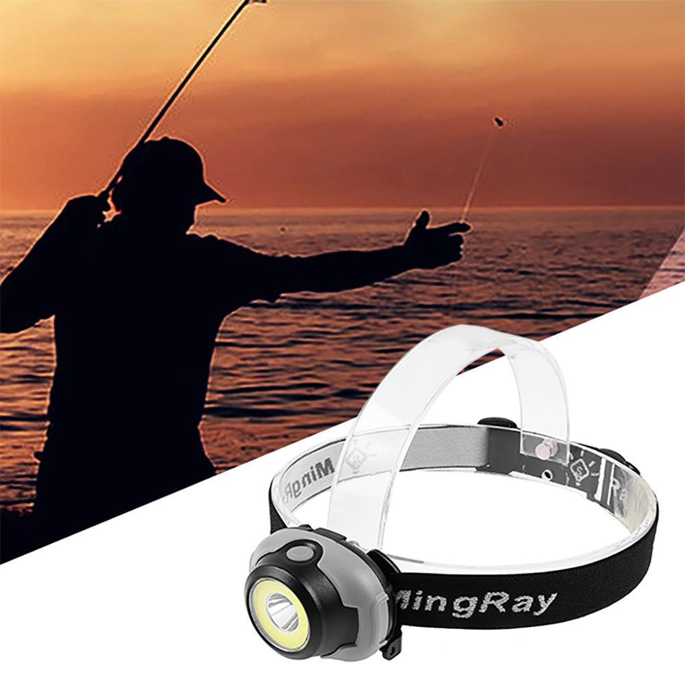 Image 2 - MingRay Mini COB Headlamp 3 W powerful led Headlight waterproof Flashlight on head for camping fishing ridding lamp lantern-in Headlamps from Lights & Lighting
