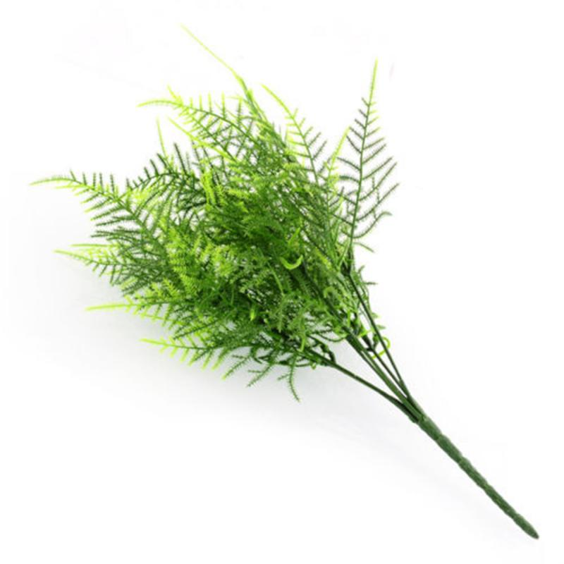7 Stem Artificial Green Grass Asparagus Fern Leaf Simulation Bouquet Ivy Family Cafe Office Leaves Leaves Green Plant Decoration