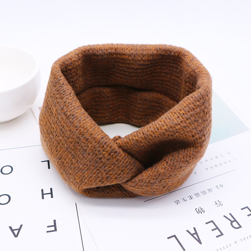 New Women Headband For Autumn Winter Crochet Headbands Cross Wool Knitted Hair Band Turban Vintage Hair Accessories Head Wrap