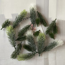 10pcs Pine Branches Artificial Fake Plant Artificial Flower Branch Christmas Party Decoration DIY Accessories Bouquet Gift Box