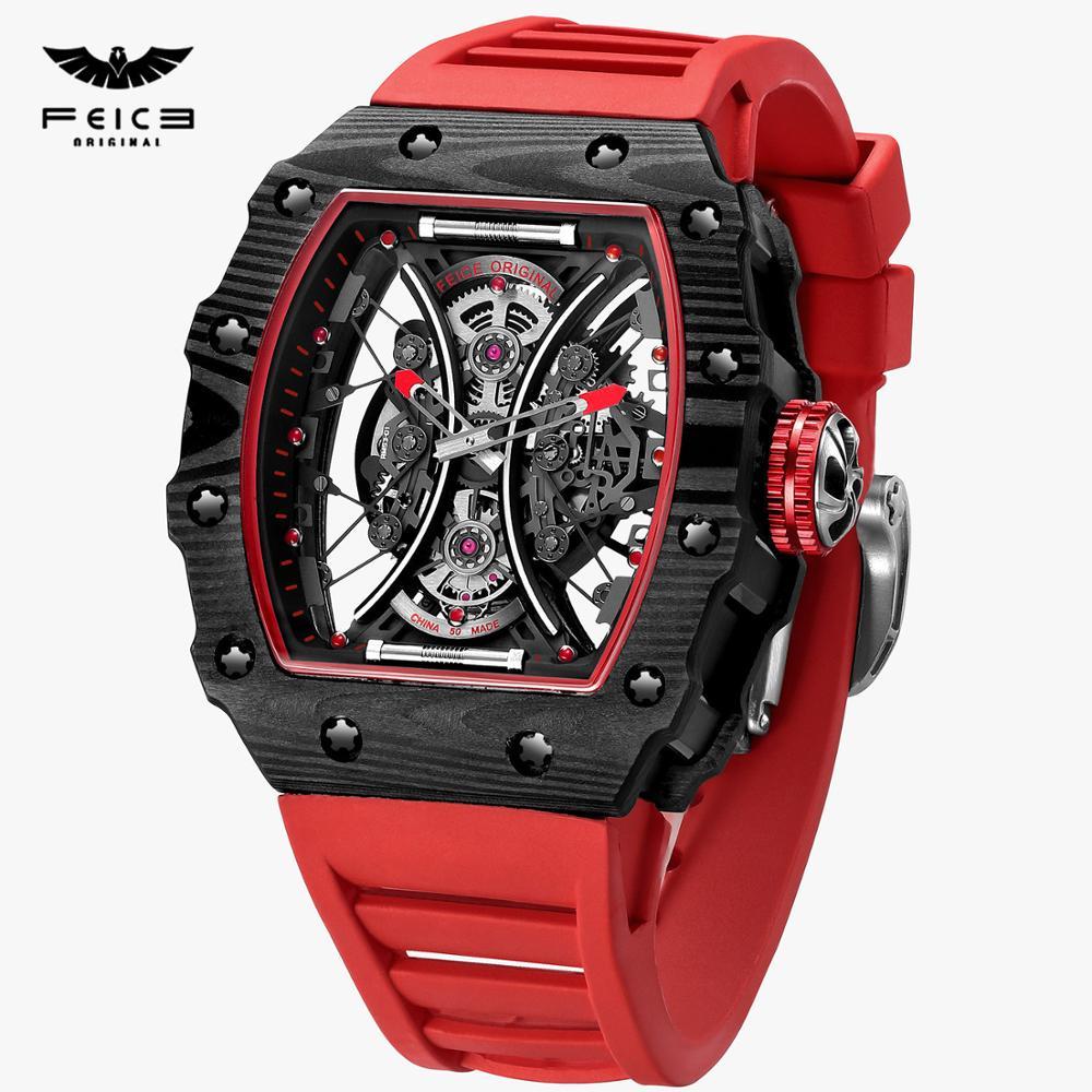 FEICE Luxury  Skeleton Watch Automatic Mechanical  Watches for Men Creative Fashion Sport  Waterproof  Watch Clock FM602N 1