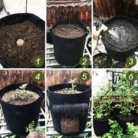 4 Pack Kartoffel Wachsen Tasche  gemüse Pflanzer Tasche 7 Gallonen/10 Gallonen mit 4 Label 2 Griff 1 Access Klappe