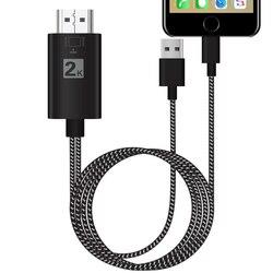 2 k 1080 p ios telefone tela espelho conectar a tv av adaptador hdmi cabo de cabo de vídeo para iphone 5S 6 s 7 8 plus x xs xr max para ipad