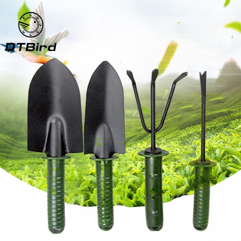 4pcs/lot Garden Tool Combination Flower Planting Shovel Garden Plastic Handle Four-piece Flower Shovel Hand Tools