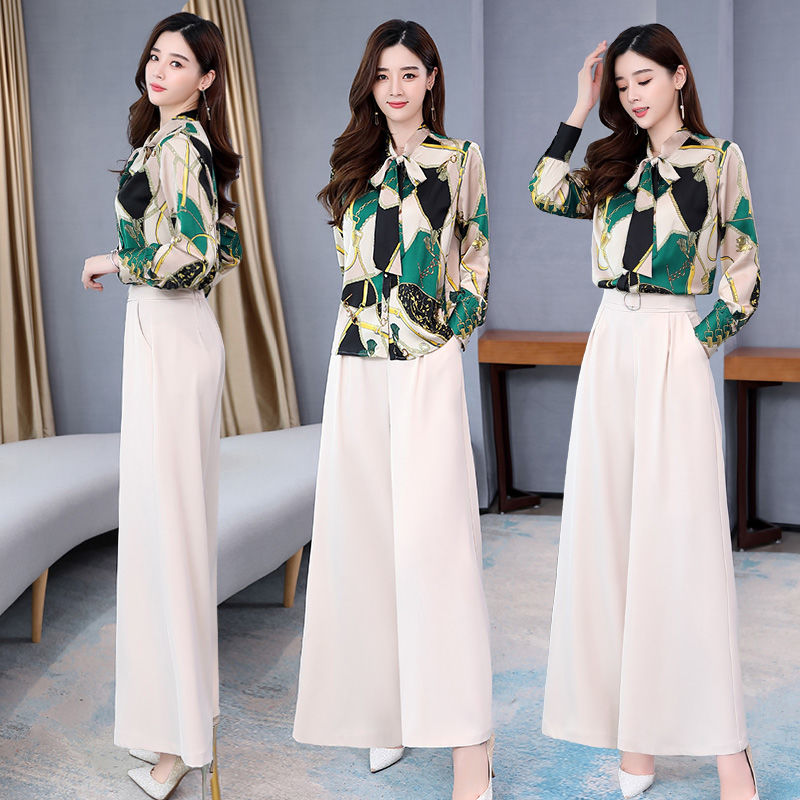 H8100d8e6a00247af990b37dc0ca18ccft - Summer Two Piece Set OL Women Sets Plus Size Two Piece Set Top And Pants Wide Leg Pants Woman Tracksuit /outfit/suit/Set 2 Piece