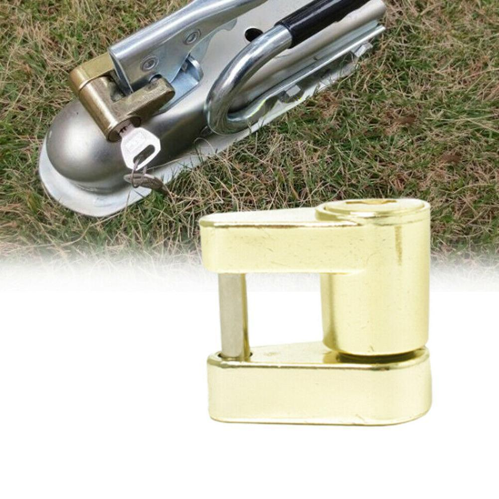 Trailer Coupler Padlock Solid Brass Trailer Locks For Hitch Theft Security Protector Protection Y7B1