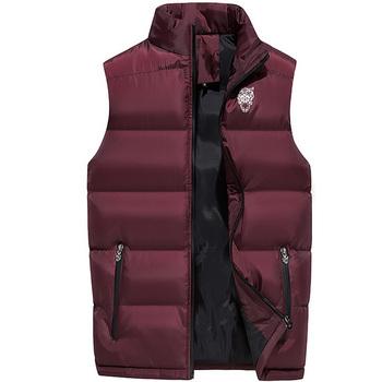 Mężczyzna kamizelka codzienna odzież wierzchnia jesień zima kurtki kamizelki płaszcz mężczyźni kamizelka bez rękawów mężczyźni kurtki duże rozmiary płaszcze 4XL 5XL 6XL 8814 tanie i dobre opinie Sorenwing COTTON waistcoat for men vest men s vest mens sleeveless jacket warm winter Stałe zipper NONE Kurtki płaszcze