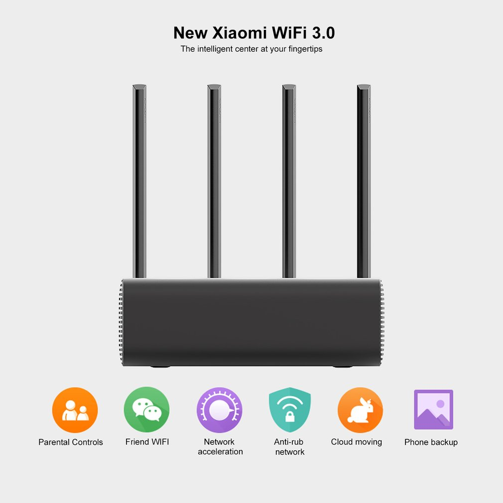 Routeur Xiao mi mi Pro R3P 1733Mbps Wi Fi Wi Fi routeur Wifi sans fil intelligent 4 antennes double bande 2.4Ghz 5.0Ghz dispositif réseau Wifi - 4