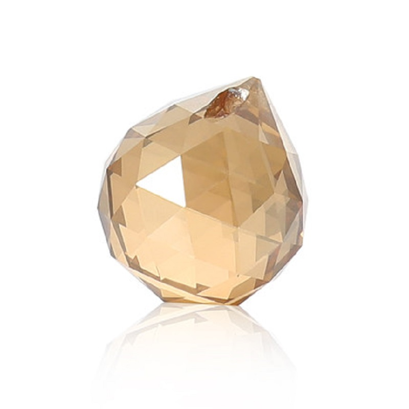 5X Champagne Glass Crystal Prism Faceted Chandelier Suncatcher DIY Pendant Decor