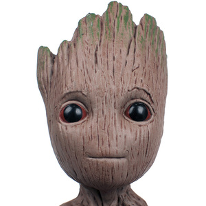 Image 4 - Strongwell Baby Groot Doll Tree Man Model Plastic PVC Guardians Groot The Galaxy Decoration Figurine Kids Toy