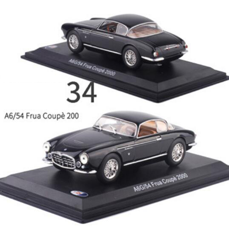 1/43 Diecast Alloy Classic Car Maseratis Racing Rally Model Metal Vehicles Toys Collection Display With Transparent Cover