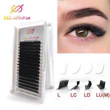 L//lc/ld/m curl mix l lash, l cílios, l extensão de cílios macios individuais cílios 8-15mm falso vison cílios extensão