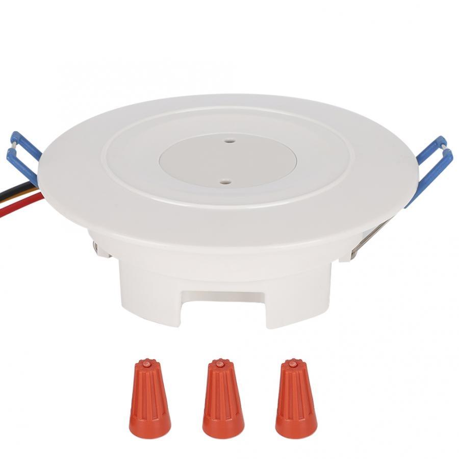 3.7GHz czujnik mikrofalowy ruch ciała detektor inteligentny włącznik światła do korytarza wbudowane mocowanie sufitowe Hot