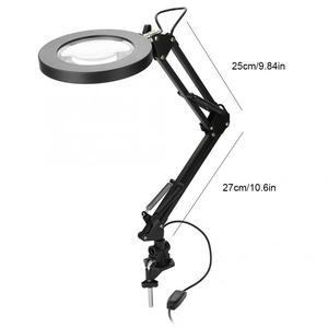 Image 3 - 5X lampa powiększająca mocowanie zaciskowe lupa z lampą LED lampy Salon Eyeliner Manicure tatuaż pielęgnacja skóry lampa z upiększającym efektem/lampa stołowa narzędzia do tatuażu
