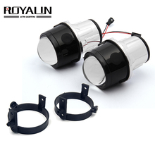ROYALIN Bi Xenon 안개등 프로젝터 렌즈 Mazda 3 6 CX5 Axela Atenza 2.5 풀 메탈 H11 HID 전구 자동차 스타일링 4300K 5000K
