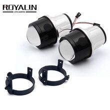 Двухксеноновый противотуманный светильник ROYALIN для Mazda 3 6, CX5, Axela Atenza, 2,5 дюйма, полностью металлические H11 HID лампы для стайлинга автомобиля, 4300K, 5000K