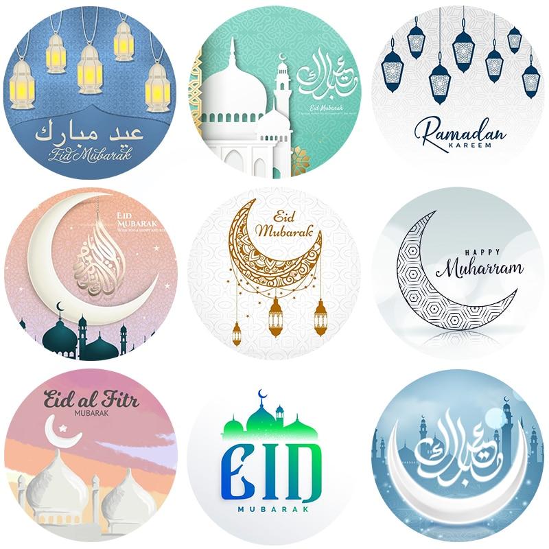 Eid Mubarak Stickers Box Lable Gift Cake Sticker Decoration Ramadan Mubarak Kareem Party Eid Al-fitr Islam Muslim Festival Decor