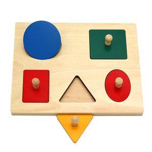 Montessori Wood Knob Puzzle Peg Board Ge