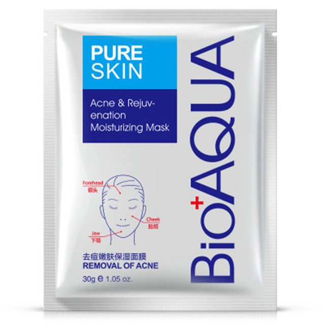 10Pcs bioaqua acne treatment Face Mask Facial Care Acne Treatment Moisturizing Oil Control facial mask korean skin care 1