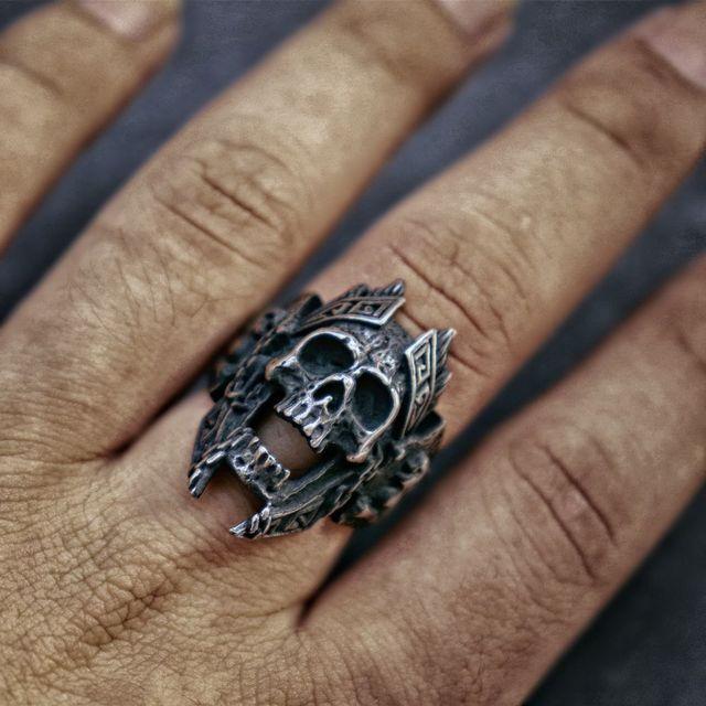 God of war Ares skull ring