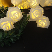 Battery Operated LED Flower Rose String Lights 1.5M 10leds For Wedding Christmas Garland Festival Party Home Decoration lamp