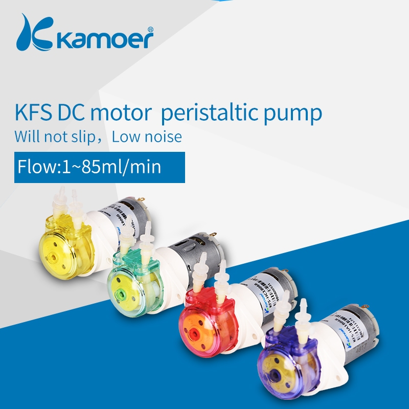 Kamoer KFS Persitaltic Water Pump 6v/12v/24v With Reduction Gear, Low Flow Rate Water Pump, 4 Color