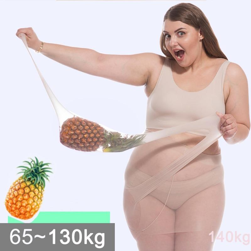 6D collant ultrasottili di grandi dimensioni da donna collant taglie forti tinta unita traspirante Sexy Super elastico grande Nylon collant donna