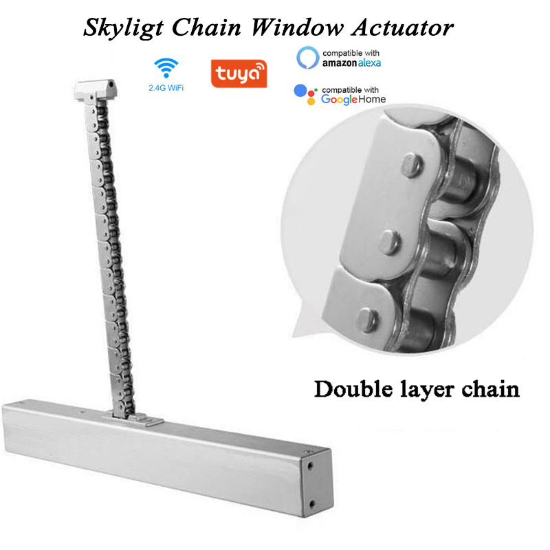 AC100-240V 400mm 500mm 600mm 700mm Length Chain Driven Window Actuator Automatic Window Open Close Skylight Casement Greenhouse