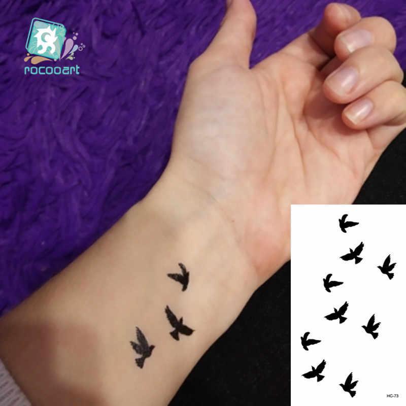 Rocooart 동물 방수 임시 문신 스티커 플라밍고 고양이 폭스 문신 바디 아트 여성 새로운 가짜 Taty Tatuaje 귀여운 작은 문신